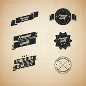 Premium Quality Label Set  Vector Illustration — Stock Vector