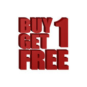 Buy one get one free — Stock Vector