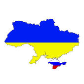 Ukraine and Russia conflict — Stock vektor