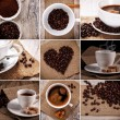 Coffee collage. Collection of Coffee. — Stock Photo