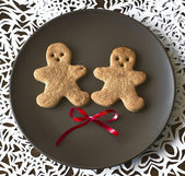 Christmas ginger man cookie — Stock Photo
