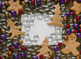 Peperkoek kerstboom cookies — Stockfoto
