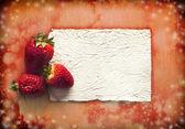 Borde con fresas — Foto de Stock