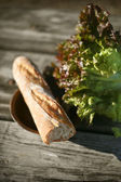 Bread and letuce — Stockfoto