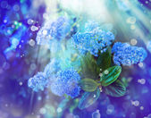 Background with little blue flowers — Stock Photo