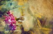Piękne różowe kwiatuszki — Zdjęcie stockowe