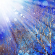 Spring background with blue sky — Stock Photo #51360283