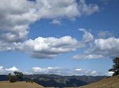 Beutiful landscape with blue sky — Stock Photo