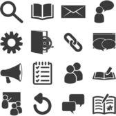 Elenco di aula relative icone — Vettoriale Stock