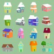 List of different types of houses — Stock Vector