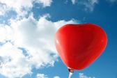 空のハート形風船 — ストック写真