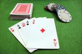 Pokerhand — Stockfoto