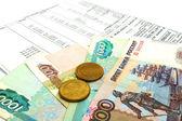 Российский рубль и получение арендной платы — Стоковое фото