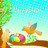 Easter birds — Stock Vector