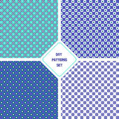 Seamless dot patterns set — Stock Vector