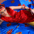 Woman in colourful dress — Stock Photo #43496501