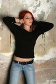 Rockçı kız — Stok fotoğraf