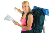 Girl ready for adventure — Stock Photo