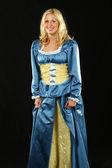 дама в голубом платье — Стоковое фото