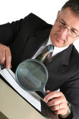 Businessman with documents — Stock Photo