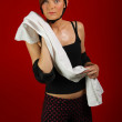 Girl with towel — Stock Photo #43501257