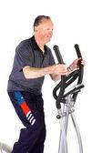 Man doing fitness exercise — Stock Photo