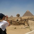 Sphinx and pyramids of Khafre — Stock Photo #43515889