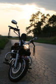 Chopper motorcycle — Stock Photo