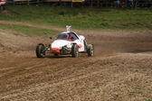 Buggy on track — Stockfoto