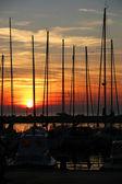 Sunset on the sea — Stock Photo
