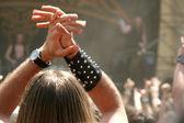 Rocking crowd — Stock Photo