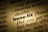 Benefit — Stock Photo