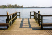 Pier at lake — Stock Photo