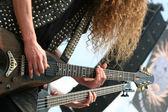Guitarristas no palco — Fotografia Stock