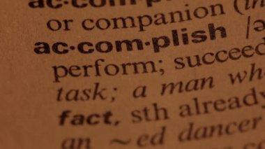 Word accomplish — Stock Video