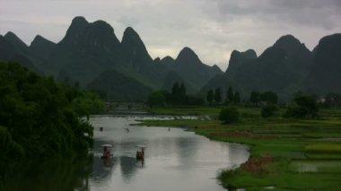 Yangshuo valley — Stock Video