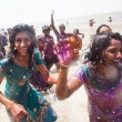 Girls at Holi celebration — Stock Photo