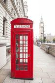 Telephone box and Big Ben — Stock Photo