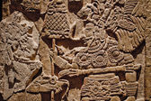 Mayan carvings on a wall — Stock Photo