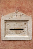 Decorative marble mailbox — Stock Photo