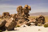 Stones at Uyuni desert — Stock Photo