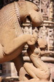 Statue in Khajuraho temple — Stock Photo