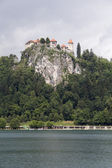 Castle by the Lake Bled — Stock Photo