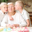 Grandmother enjoying time together with grandchildren — Stock Photo