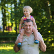 Happy father holding his little daughter — Stock Photo #46835447