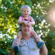 Happy father holding his little daughter — Stock Photo #46835449