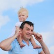Happy father holding his little daughter — Stock Photo #46835461
