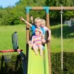 Happy kids having fun on the playground — Stock Photo #47408075