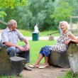 Senior couple relaxing in the park — Stock Photo #50240403