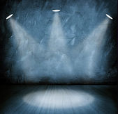 Empty blue  room — Stock fotografie